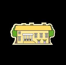 Keltainen koulu Logo